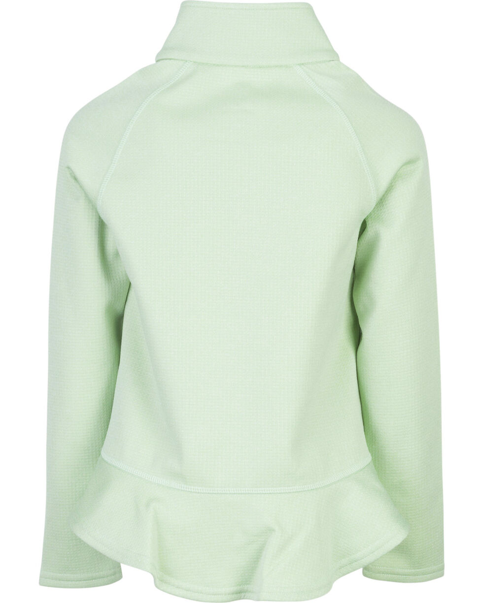 Browning Girls' Green Zinnia Quarter Zip Pullover , Green, hi-res