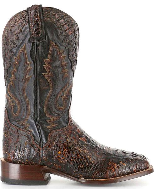 El Dorado Men's Caiman Square Toe Western Boots, Suntan, hi-res