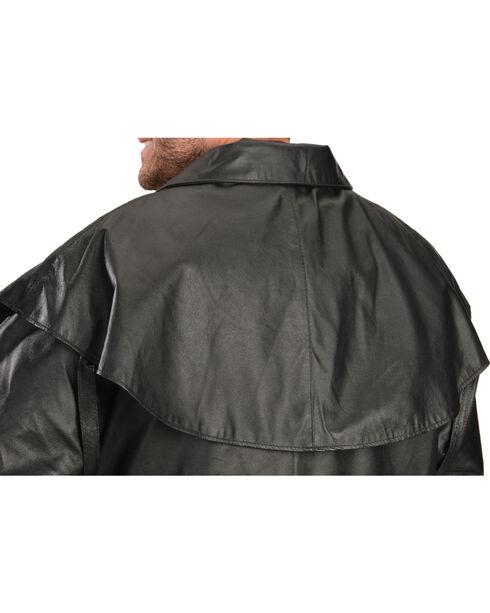 Vintage Leather Black Leather Duster, Black, hi-res