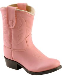 Jama Toddler's Cushion Comfort Western Boots, Pink, hi-res