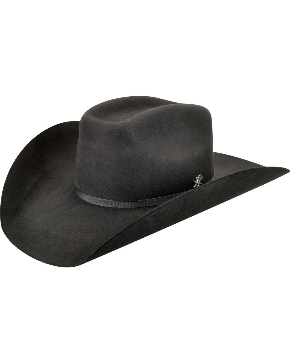 Bailey Men's Murphy II 2X Black Cowboy Hat , Black, hi-res