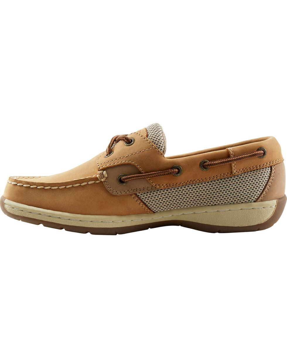 Eastland Women's Tan Solstice Boat Shoe Oxfords , Tan, hi-res