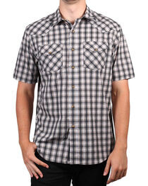 Pendleton Men's Grey Short Sleeve Ombre Plaid Shirt , , hi-res