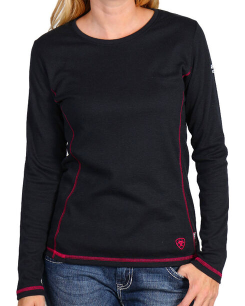 Ariat Women's Flame Resistant Polartec Powerdry Work Shirt, Black, hi-res