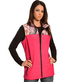 Red Ranch Hot Pink Camo Bonded Vest , , hi-res