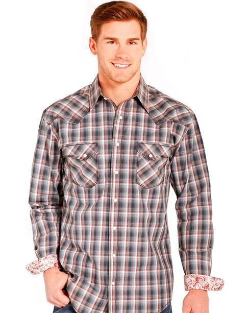 Panhandle Slim Men's Rough Stock Amesbury Vintage Ombre Shirt , Grey, hi-res