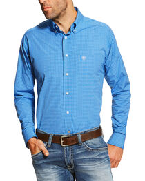Ariat Pro Series Men's Checkered Print Long Sleeve Western Shirt, , hi-res