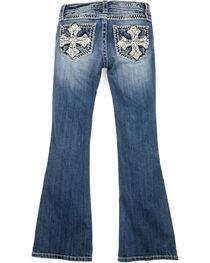 Miss Me Girls' Pearl Crossroads Boot Cut Jeans, , hi-res