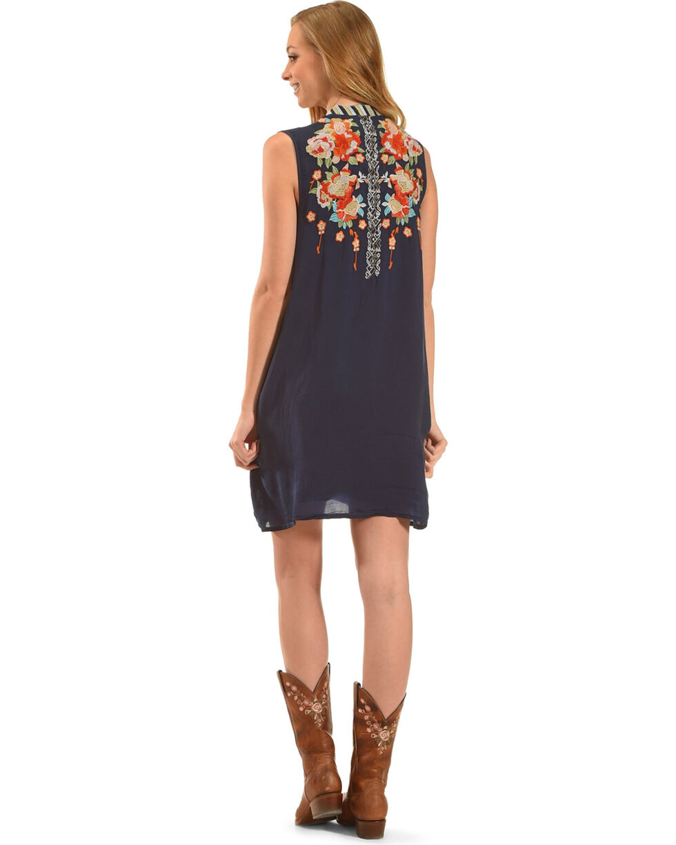 Johnny Was Women's Blue Basille Dress, Blue, hi-res
