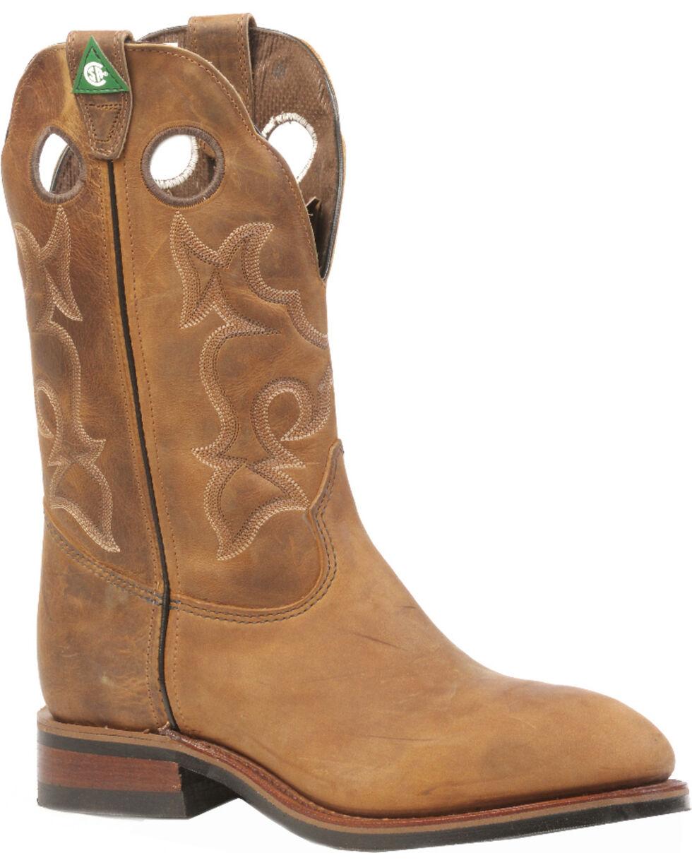 Boulet Men's Hillbilly Golden Western Work Boots - Steel Toe, Tan, hi-res