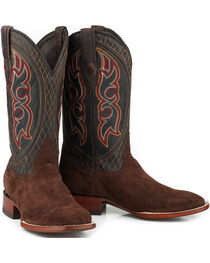 Stetson Men's Brown Leather Hippo Boots - Square Toe , , hi-res