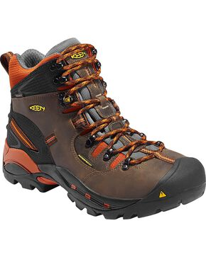 Keen Men's Pittsburgh Waterproof Soft Toe Boots, Brown, hi-res