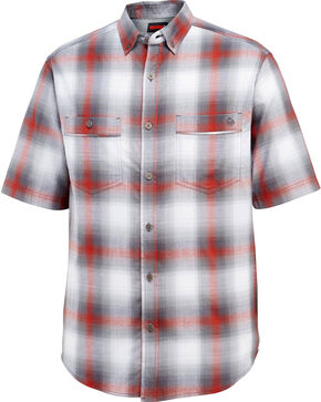 Wolverine Men's Springsport Short Sleeve Shirt, Red, hi-res