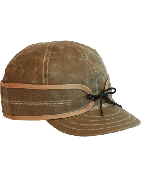 Stormy Kromer Men's Tan Waxed Cotton Cap, Tan, hi-res