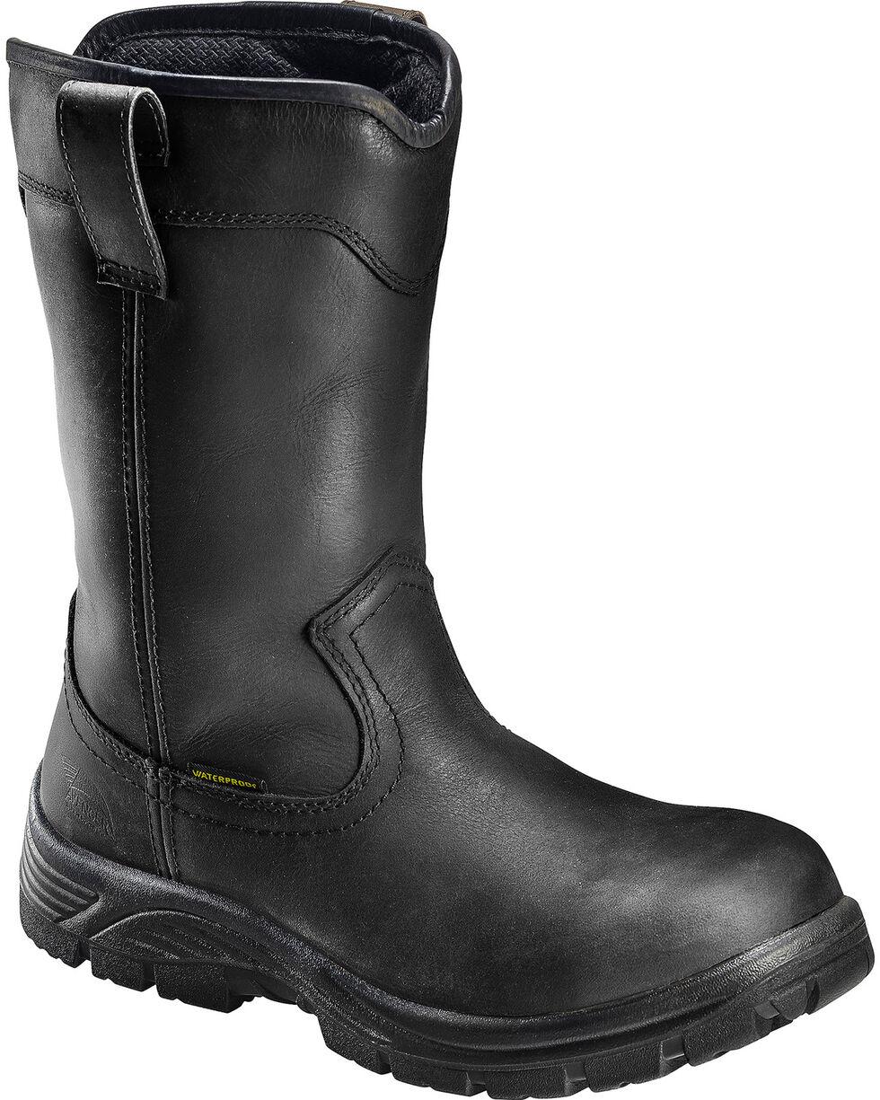 """Avenger Men's Waterproof 11"""" Wellington Work Boots, Black, hi-res"""