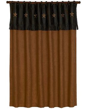 HiEnd Accents Laredo Star Shower Curtain, Multi, hi-res