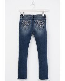 Miss Me Girls' Floral Embellished Pockets Jeans - Skinny, , hi-res
