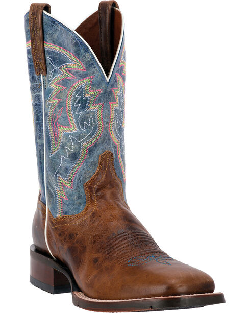Dan Post Blue Lava Teton Cowboy Boots - Square Toe, , hi-res