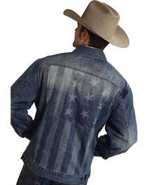 Roper Americana Collection American Flag Jean Jacket, , hi-res