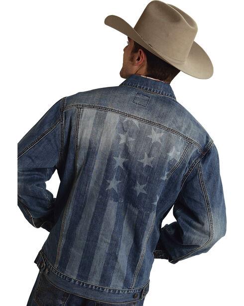 Roper Americana Collection American Flag Jean Jacket, Denim, hi-res