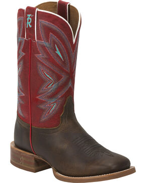 Tony Lama Women's Faro 3R Stockman Western Boots, Brown, hi-res