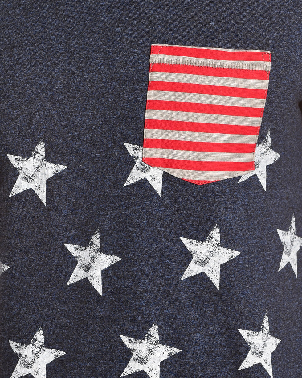 American Republic Men's Blue Star Americana T-Shirt , Blue, hi-res