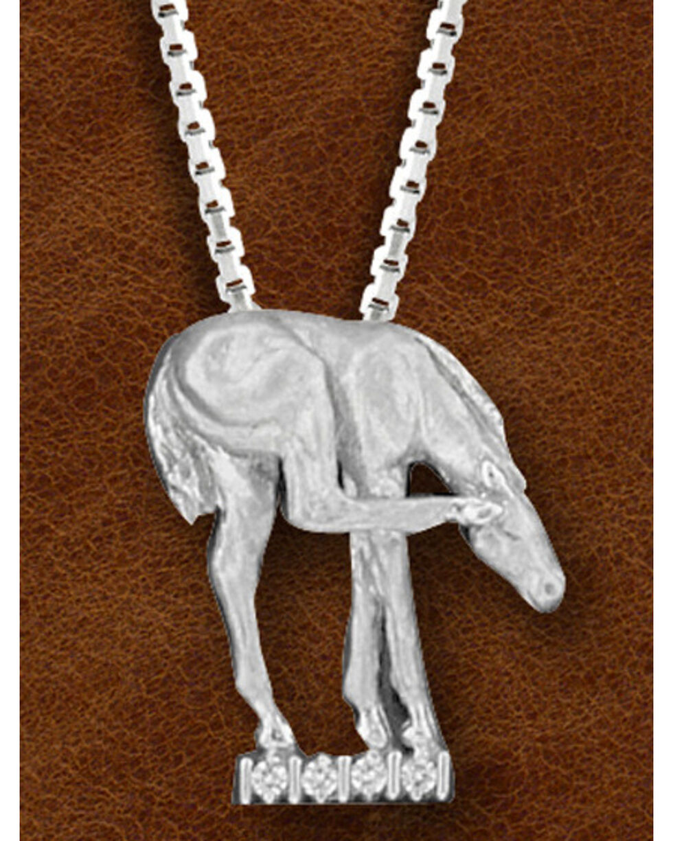 Kelly Herd Women's Sterling Silver Horse Scratching Ear Necklace, Silver, hi-res