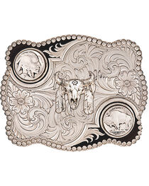 Montana Silversmiths Buffalo Nickel Belt Buckle, , hi-res