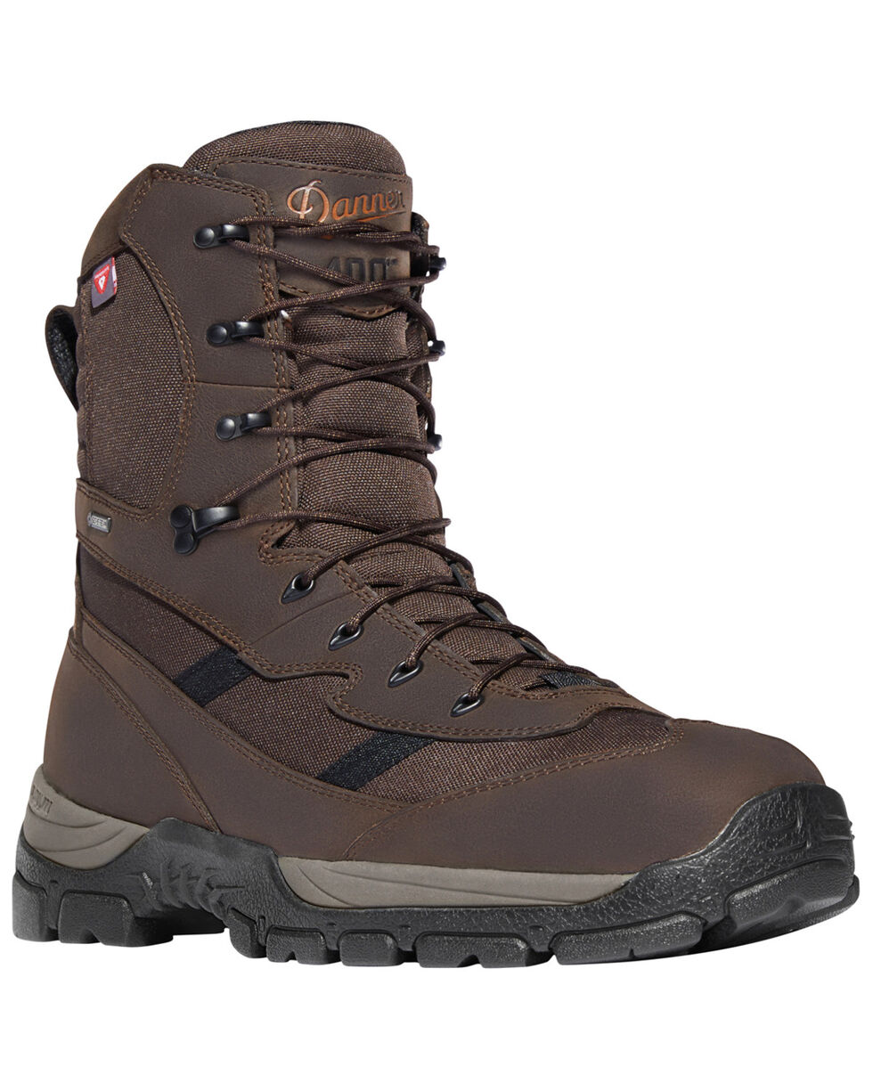 "Danner Men's Brown Alsea 8"" Lace Up Waterproof 400G Insulated Boots - Round Toe, Brown, hi-res"