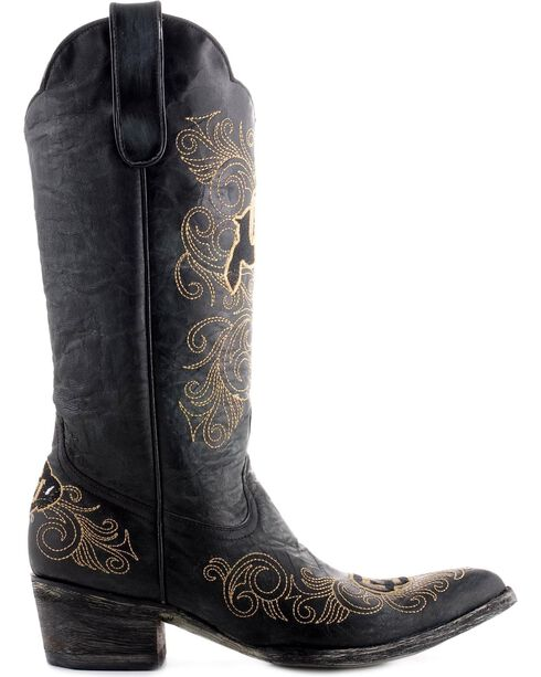 Gameday University of Colorado Cowgirl Boots - Pointed Toe, Black, hi-res