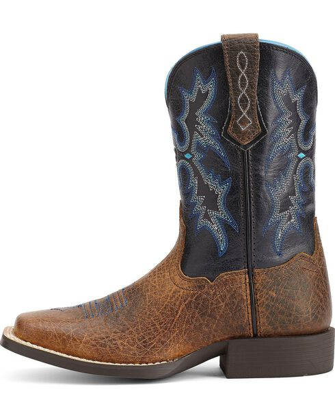 Ariat Youth Boys' Tombstone Cowboy Boots - Square Toe, Earth, hi-res