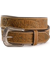 Jack Daniel's Embossed Leather Belt, , hi-res