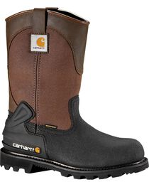 """Carhartt 11"""" Insulated Brown CSA Certified Work Boots - Steel Toe, , hi-res"""