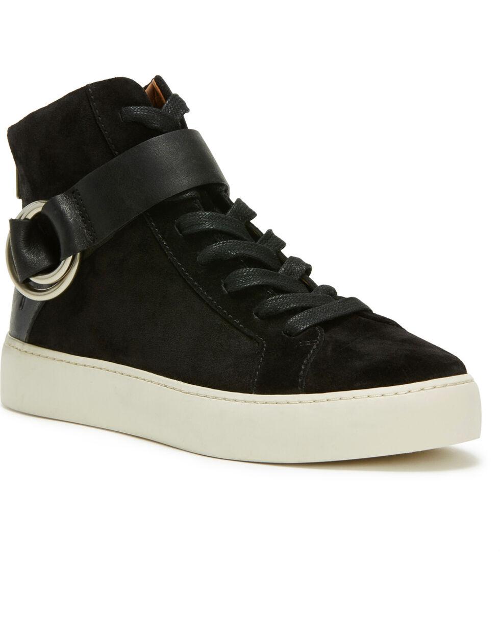 Frye Women's Black Lena Harness High Shoes - Round Toe, Black, hi-res