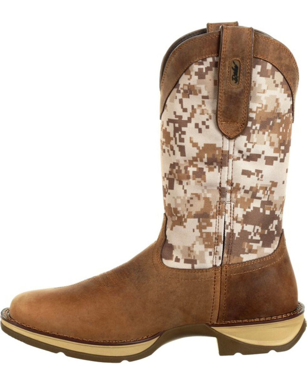 Rebel by Durango Men's Brown Desert Camo Western Boots - Square Toe , , hi-res