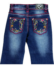 Cowgirl Hardware Girls' Floral Embroidered Jeans (7-16), , hi-res
