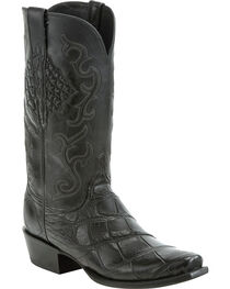 Lucchese Men's Ace Black Giant Gator Western Boots - Square Toe, , hi-res