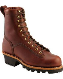 Chippewa Men's Lace-To-Toe Logger Work Boots, , hi-res