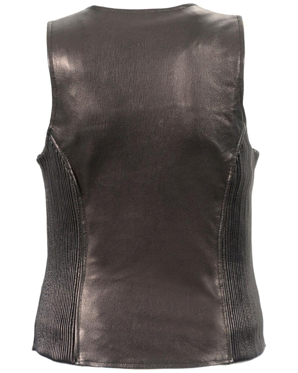 Milwaukee Leather Women's Black Lightweight Front Zipper Conceal Carry Vest - 3X , Black, hi-res