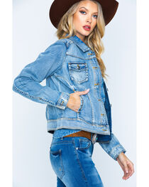 Ryan Michael Women's Indigo Jean Jacket, , hi-res