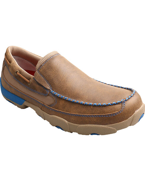 Twisted X Men's Slip-On Driving Moc Casual Shoes, Saddle Brown, hi-res