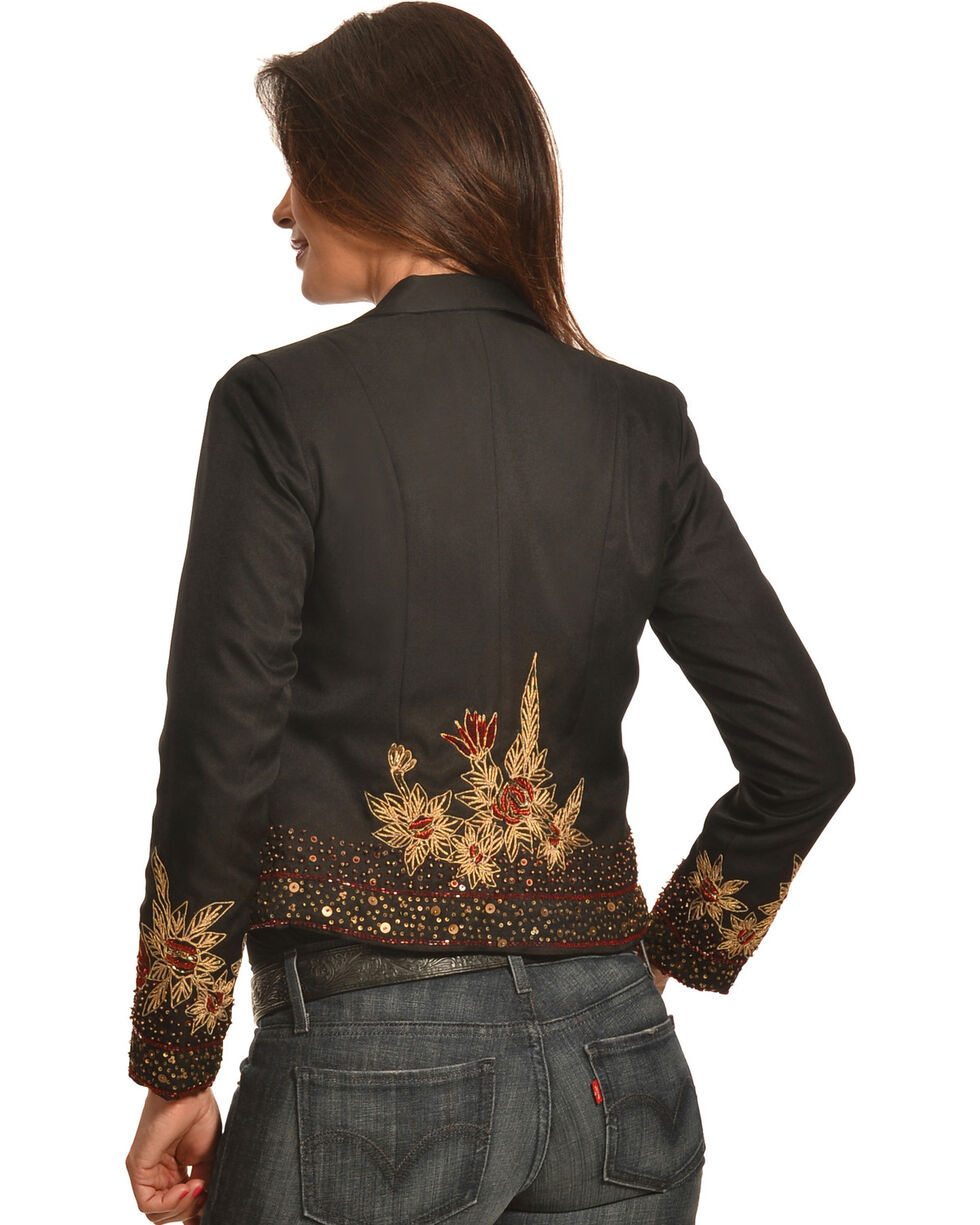 Pink Cattlelac Women's Beaded and Embroidered Blazer , , hi-res
