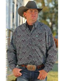 Cinch Men's Paisley Print Long Sleeve Shirt , , hi-res