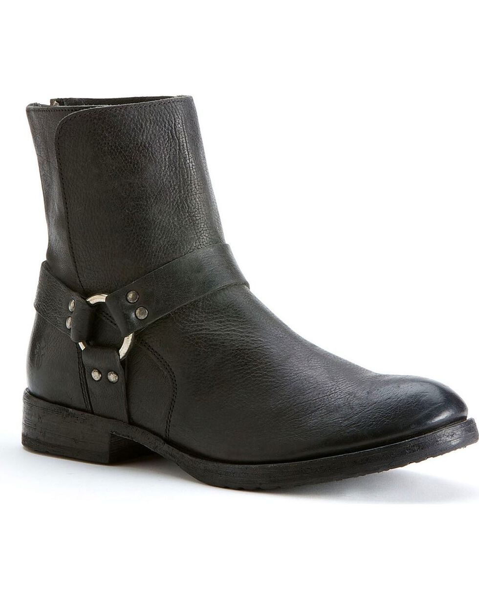 Frye Men's Dean Harness Boots, Black, hi-res