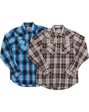 Ely Cattleman Boys' Assorted Plaid Long Sleeve Shirt, Multi, hi-res
