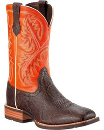 Ariat Men's Quickdraw Elephant Print Western Boots, , hi-res