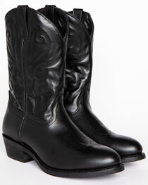 Cody James® Men's Classic Black Embroidered Western Boots, , hi-res
