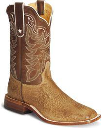Tony Lama Smooth Ostrich Cowboy Boots - Square Toe, , hi-res