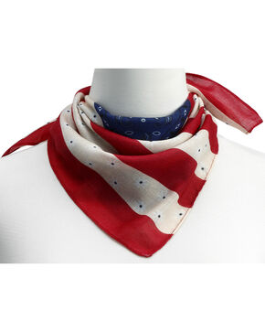 Big Sky Carvers Women's Mixed Pattern American Flag Scarf , Multi, hi-res