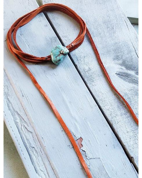 Jewelry Junkie Women's Wrap Around Turquoise Chunk Choker , Turquoise, hi-res